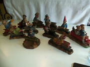 Reduced - Lot Of 11 Tom Clark Train Gnomes From Retired Series - Cairn Artists