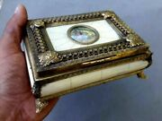 Vintage Music Box Jewelry Brass And Celluloid