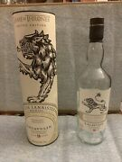 Game Of Thrones House Lannister Collectible Tube Bottle Scotch Whisky Lagavulin