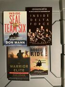 Millitary Biography Book Lot Delta Force Seal Team Six Warrior Elite Ect