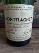 Romanee Conti Empty Bottle Drc Montrachet 1972 Rare With Col Used