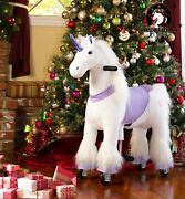 Medallion - Ride On Rocking Walking Horse Pony For 3 To 6 Years Old Pp Unicorn