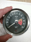 Smithand039s Tachometer Gauge 4 Cyl Positive Earth Rvi2401/00b Made In Uk