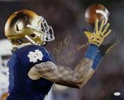 Will Fuller Signed 16x20 Catch Photo W/15 2 Lines Play Like A Champ Today-jsa W
