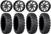 Msa Milled Switch 20 Wheels 33 Versa Cross V3 Tires Polaris Rzr Turbo S / Rs1