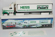 Hess Gasoline Vehicle 1992 Toy Truck 18 Wheeler And Racer Car Christmas New Tested
