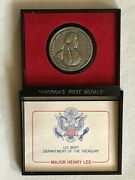 Major Henry Lee Commerative Medal U S Mint Coin Americas First Medals In Holder