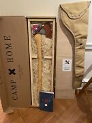 New Best Made Company Co American Felling Axe + Wood Crate + Canvas Case. Usa