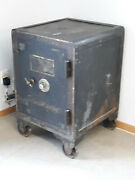 Vintage Antique Cast Iron Floor Safe Made By The Cincinnati Safe And Lock Company