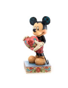 Jim Shore Enesco Mickey Mouse With Heart Figurine A Gift Of Love