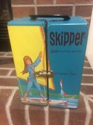 Blue Barbie/skipper Mattel Carrying Case Doll And Assecories 1964