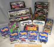 Collectible Toy Car Lot Hess Trucks, Street Machines, Muscle Machine, Hot Wheels