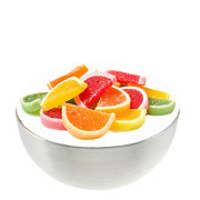Assorted Jelly Fruit Slices - Sugar Sanded - Kosher - Candies - Free Shipping