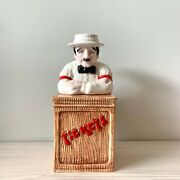 Theatre Box Office Man Selling Tickets Vtg Coin Bank Sigma Taste Setter Japan
