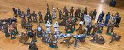 Lot 60 + Manoil Barclay Iron Cast Toy Soldiers Rare Pigeon Band Skiers Gas 1930