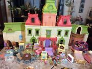 Vintage Fisher Price Loving Family Dream Dollhouse W/ Accessories