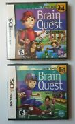 2 Nintendo Ds Brain Quest Grades 5 And 6 New Sealed Grade 3 And 4