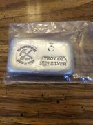 3 Oz. .999 Fine Silver Poured Bar - Prospector's Gold And Gems