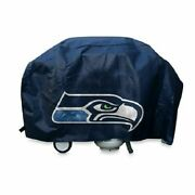 Rico Nfl Seattle Seahawks Deluxe Heavy Duty Barbeque Bbq Grill Cover New