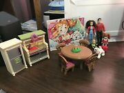 Fisher Price Loving Family Dollhouse Home For The Holidays Christmas Lot