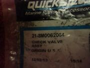 Quicksilver Mercury 21-8m0062064 Check Valve Assy Oem New In Package