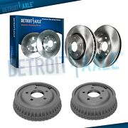 Front Brake Rotor And Rear Drum Kit For 1999-2003 Pontiac Grand Am Chevy Malibu