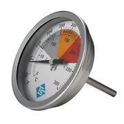 3 Bbq Pit Grill Thermometer Cooking Dial 550f Temp Gauge Smoker Temperature