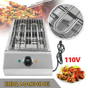 Us 110v 1600w Stainless Steel Smokeless Electric Barbecue Oven Grill Bbq Machine
