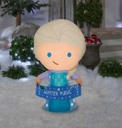 3.5 Ft Elsa From Frozen Christmas Airblown Inflatable Winter Magic Banner
