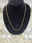 18k Solid Yellow Gold Cable Chain 3.4mm 25.3 Grams 24