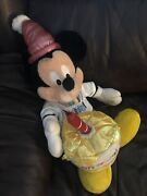 """Disney Mickey Mouse Happy Birthday Cake Candle Approx. 21""""plush Doll"""