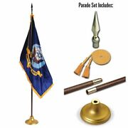 Allied Flag 3 X 5 Ft Us Navy Indoor Display And Parade Flag Set