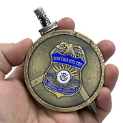 El2-018 Fam Federal Agent Air Marshal Shield With Removable Sword Challenge Coin