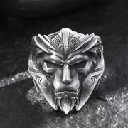 Menand039s Womenand039s Real Solid 999 Sterling Silver Rings Warrior Hero Open Size 8-11