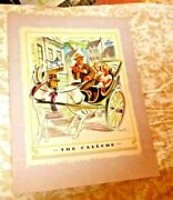 Vintage Menu Canada Steamship Lines The Caleche Jaunting Car Cruise Tss Quebec