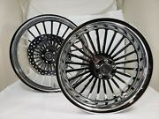 21 X 3.25 And 18 X 5.50 Harley Road Glide Chrome Legend Abs Wheel Set With Rotors