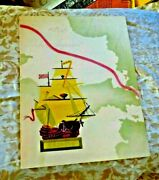 Vintage Menu Canada Steamship Lines The Griffin Map Cruise Ss Kingston