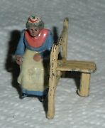 Johillco John Hill And Co Vintage Lead Old Woman On Garden Stile Ex Cond.
