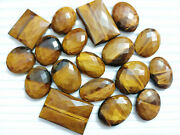 Natural Tiger Eye Gemstones Faceted Mix Size/shape Jewelry Making Wholsale Lot
