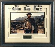Clint Eastwood Framed Photo W/ Laser Signature The Good The Bad And The Ugly