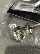 New 2014 Disney Alex And Ani Tinker Bell Silver Tone Bracelet Free Shipping