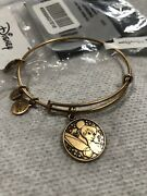 New 2014 Disney Alex And Ani Tinker Bell Gold Tone Bracelet Free Shipping