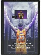 Lebron James 3d Shadowbox Framed Photo With Laser Signature And Quote