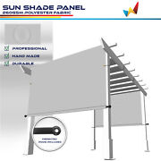 Large Waterproof Replacement Pergola Cover Sun Shade Sail For Deck Patio Grey