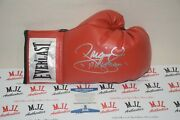 Manny Pacman Pacquiao Signed Autographed Everlast Red Glove Bas Coa Y95447