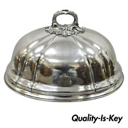 James Dixon And Sons Sheffield England Silverplate 16 Meat Dish Serving Dome Lid