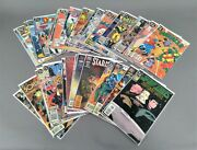 Vintage Lot Of 44 1980s-1990s Dc And Marvel Comic Books, Bagged And Boarded