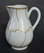 Dr. Wall Worcester Gold Queenand039s Pattern Jug Ca. 1770