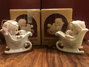 """1988 """"baby First Christmas"""" Boy And Girl Precious Moments"""