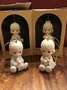 """1985 """"baby First Christmas"""" Boy And Girl Precious Moments Ornament"""